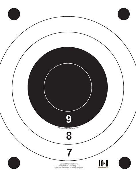 printable marksman targets targets modern service weapons