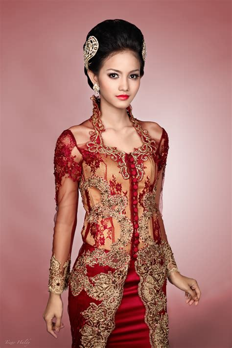 Dress Brukat Hitam Merah kebaya merah by haldream on deviantart