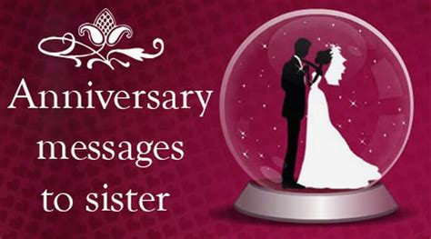 Anniversary Sister Sms images