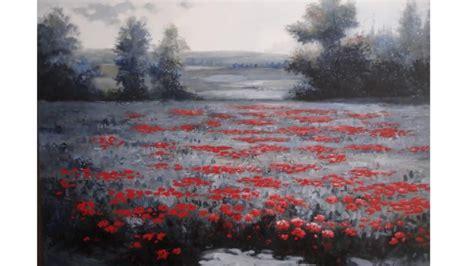 cuadros al oleo de paisajes cuadros de paisajes al oleo cos flores rojas