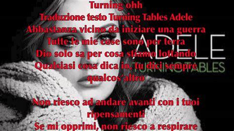 turning table testo adele turning tables lyrics testo originale e