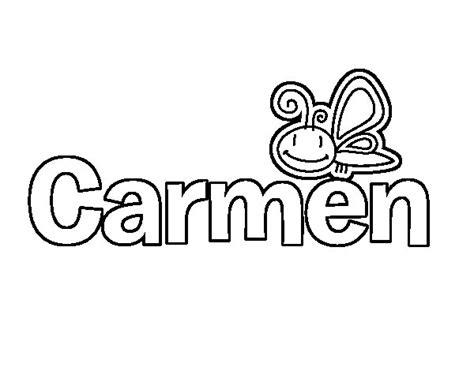 imagenes de el nombre carmen dibujo de carmen para colorear dibujos net