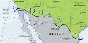 map us states bordering mexico united states mexico border map