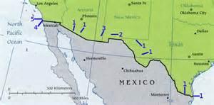 Mexico Usa Border Map by Map Mexico Usa Border