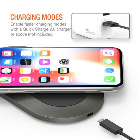 trianium wireless charger charging pad for iphone xs max xs x iphone 8 8 plus 10w qi fast