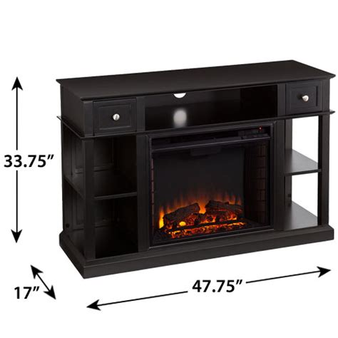 dayton electric fireplace media console in black fe9395