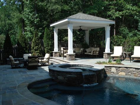 outdoor living spaces with pool outdoor living spaces