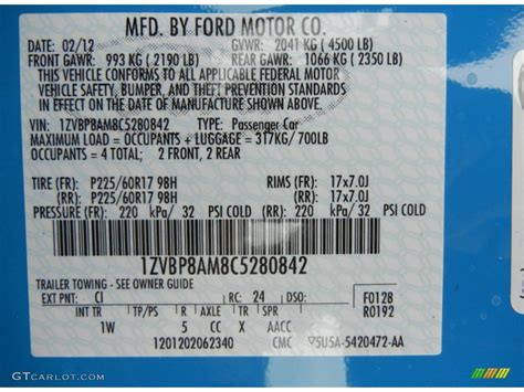 color codes ford paint cross reference mustang photos data html autos weblog
