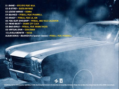 fast and furious soundtrack list fast furious 4 ost credits scans the neptunes 1 fan