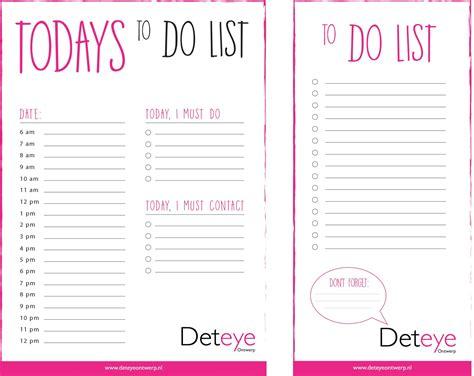 de gratis to do list deteye ontwerp