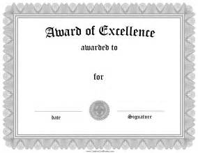 award of excellence certificate template free customizable certificate of achievement