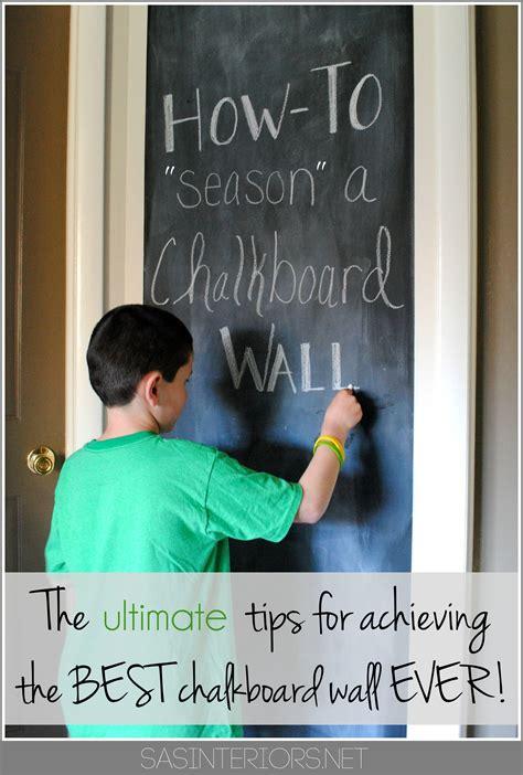 chalkboard paint prep how to prep season a chalkboard wall before using it