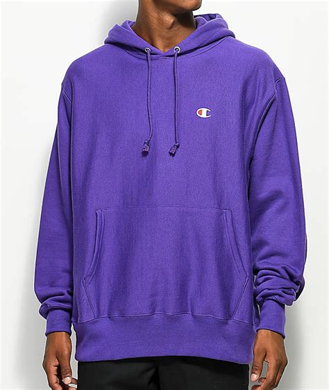 Hoodie Purple chion mens hoodies sweatshirts weave purple