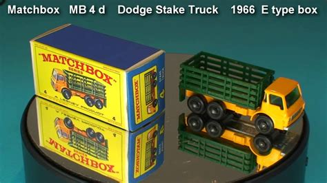 Pch Truck Stop - dodge stake truck matchbox mb 4 d 1966 e type box youtube