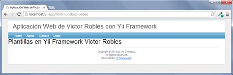 yii layout empty plantillas en yii framework victor robles victor robles