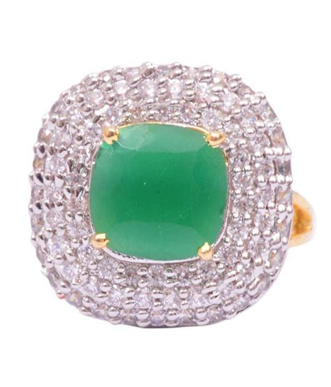 rubera cocktail ring with cz and faux emerald buy