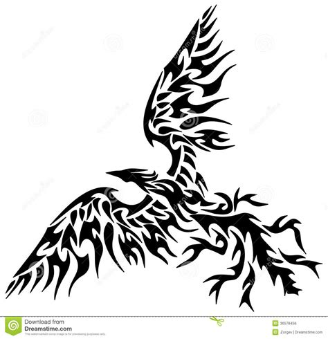 tattoo tribal phoenix stock illustration image of falcon