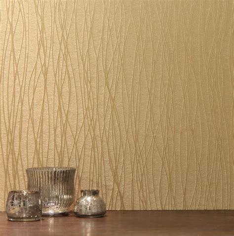 gold vinyl wallpaper arthouse treviso italian plain textured heavyweight vinyl