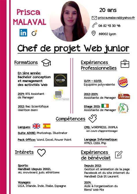 Lettre De Motivation Chef De Projet Web Cv Chef De Projet Web Junior Photoshop Cv Mod 232 Les De Cv Cv Et Mod 232 Le