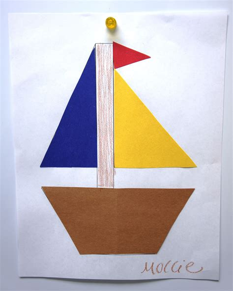 colors shapes sunflower storytime - Boat Shapes Craft