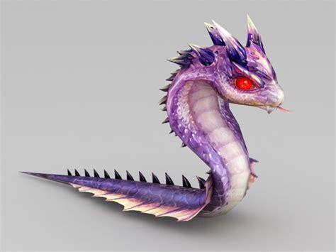 cute anime snake  model ds max files