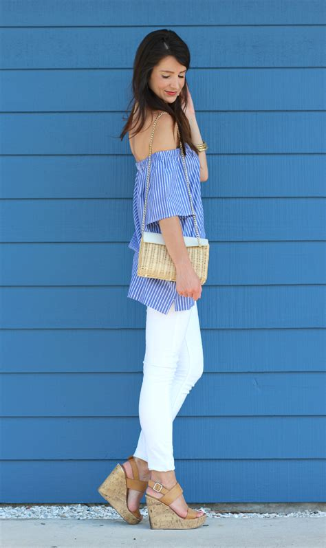 Rock Republic Hilary Striped Wedge by Casual Striped The Shoulder Top From Banana Republic