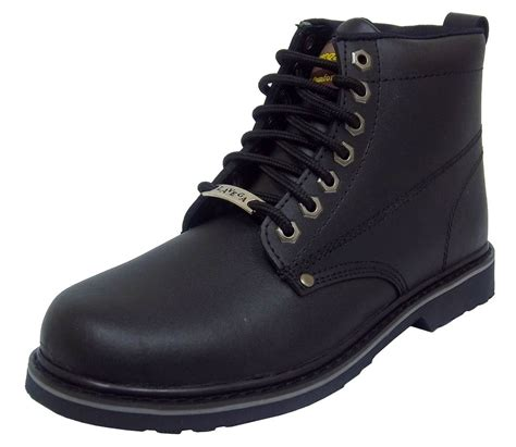 slip resistant boots for la 6205 mens black leather insulated slip and