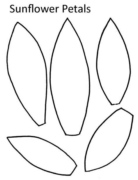 sunflower petal template printable www imgkid the