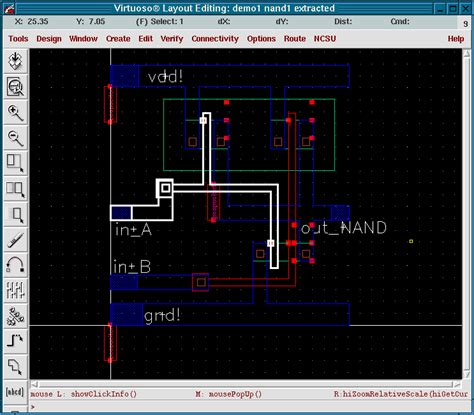 layout design in cadence layout with cadence extraction and simulation