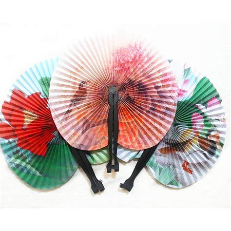 Handmade Paper Fans - 2pcs classic retro folding small paper fan handmade