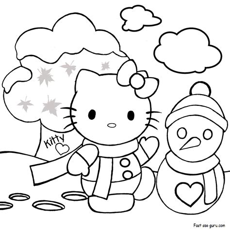 hello kitty merry christmas coloring pages print out merry christmas hello kitty coloring pages