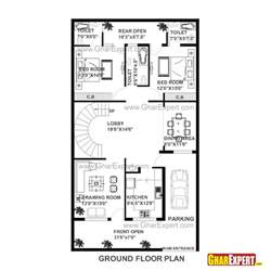 home design plans 30 60 house plan of 30 feet by 60 feet plot 1800 squre feet built area on 200 yards plot gharexpert com