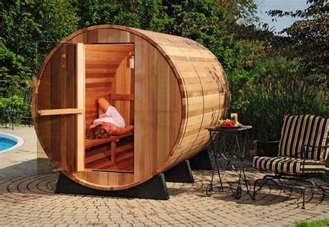 backyard steam room new indoor outdoor barrel sauna kit 6 person free