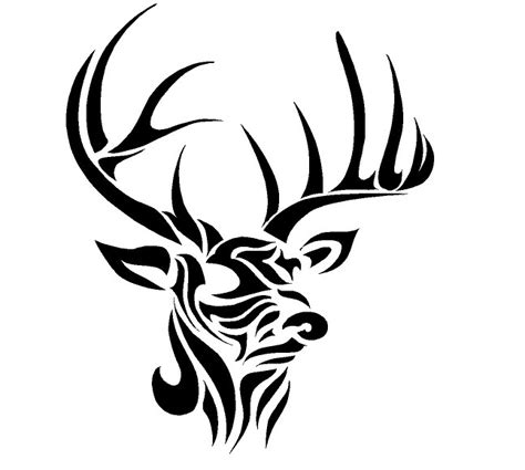 tribal deer head tattoos 37 tribal deer tattoos ideas and designs