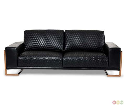 Gold Leather Sofa Michael Amini Black Modern Leather Sofa Gold