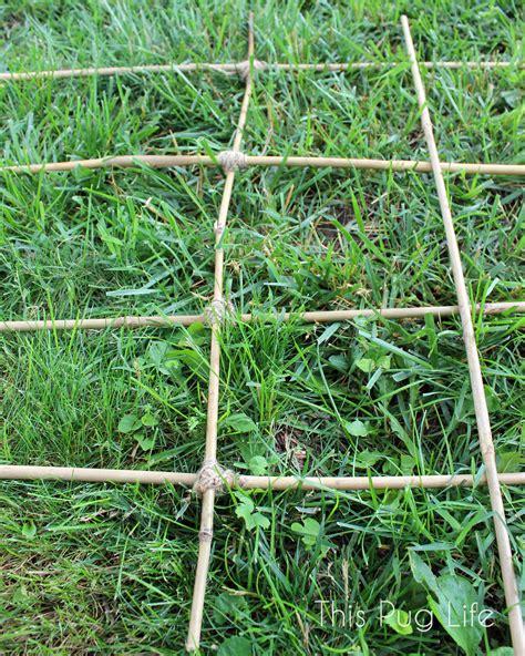 Bamboo Trellis Diy Bamboo Garden Trellis This Pug