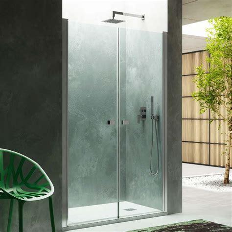 porta cristallo doccia porta doccia apertura saloon 85 cm in cristallo ceramicstore