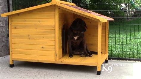wooden dog house k9 kennel store tuscan wood dog house youtube
