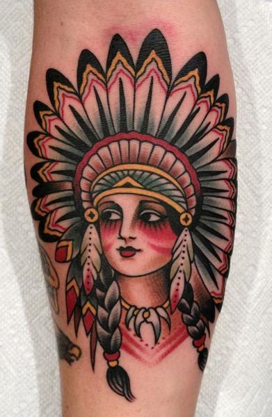 old school tattoo indian girl arm old school indian tattoo by paul anthony dobleman