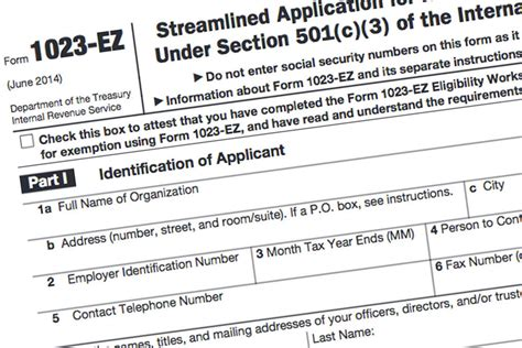 internal revenue code irc section 501 c 3 form 1023 ez the faster easier 501 c 3 application for