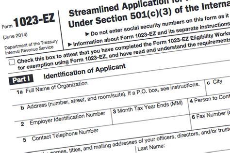 Form 1023-EZ: The Faster, Easier 501(c)(3) Application for ... 1023 Ez Status