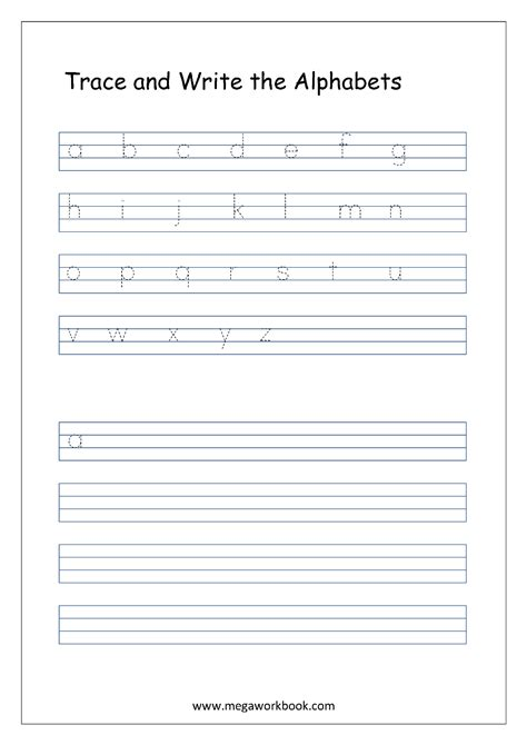 a z free english worksheets alphabet writing small letters