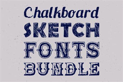 sketchbook font sketch fonts bundle display fonts on creative market