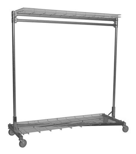 Rolling Clothes Rack 3 Ft With Shelves In Clothing Clothing Rack With Shelves
