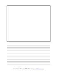 printable lined paper with drawing box handwriting paper with drawing space clipartxtras
