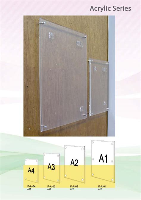 Acrylic A3 wei creative acrylic frame with spacers a1 a2 a3 a4