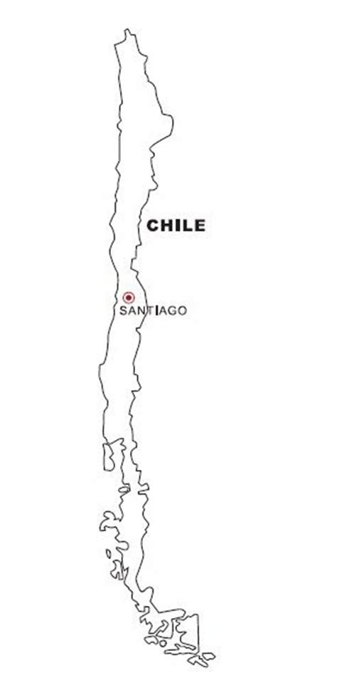 Mapa de Chile para colorear - Dibujo Views