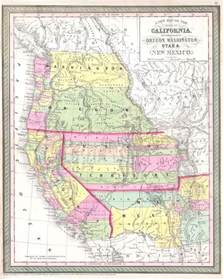 map of oregon and washington a new map of the state of california the territories of
