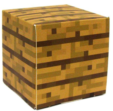 Minecraft Papercraft Wooden Planks - minecraft wooden plank block papercraft single