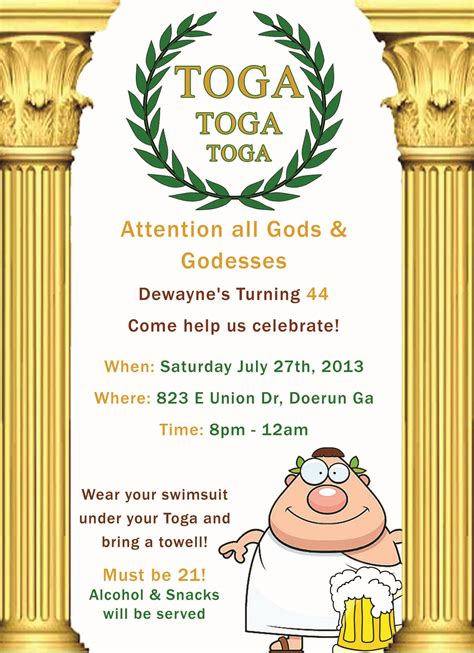 toga invitation template invitations quotes like success